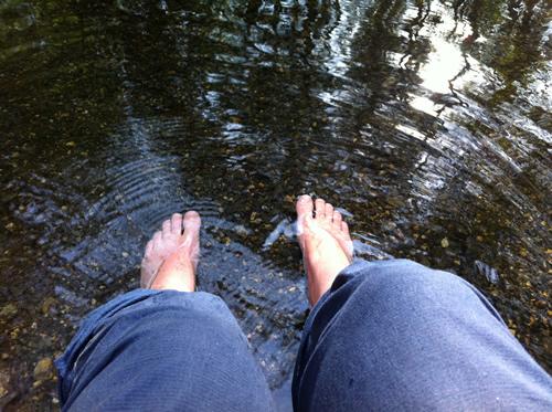 Et iskoldt fodbad