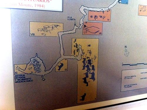 Kort over en del af Tito Bustillohulen