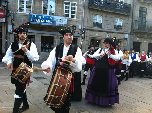 Traditionel musik i Galicien med sækkepiber