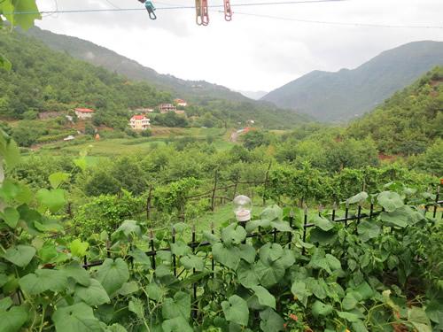 Fra Davas terrasse er der udsigt over dalen